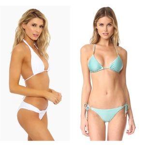 NWT Vix Assorted Bikini Two Piece Set White Blue
